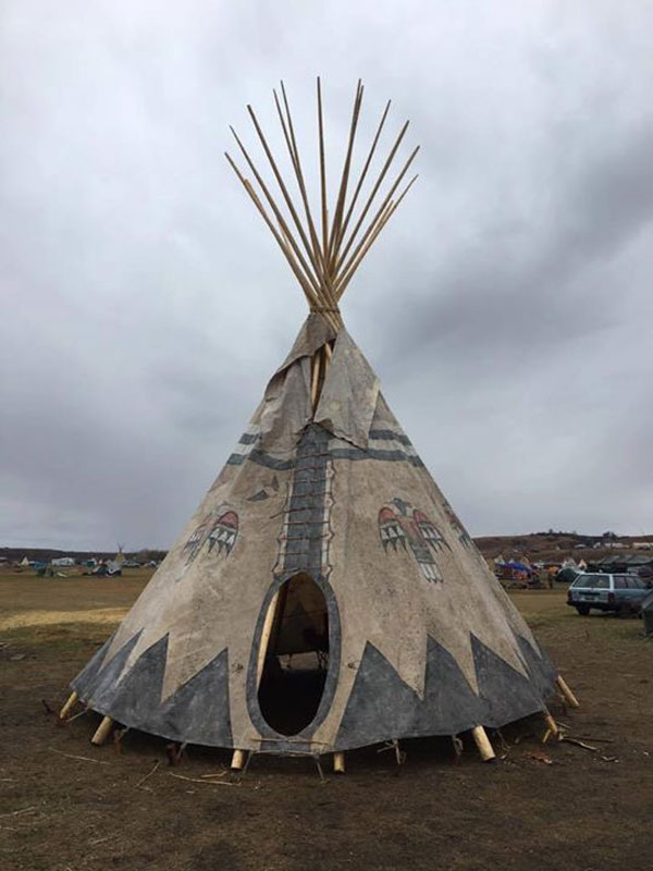 Standing rock midwifery tipi